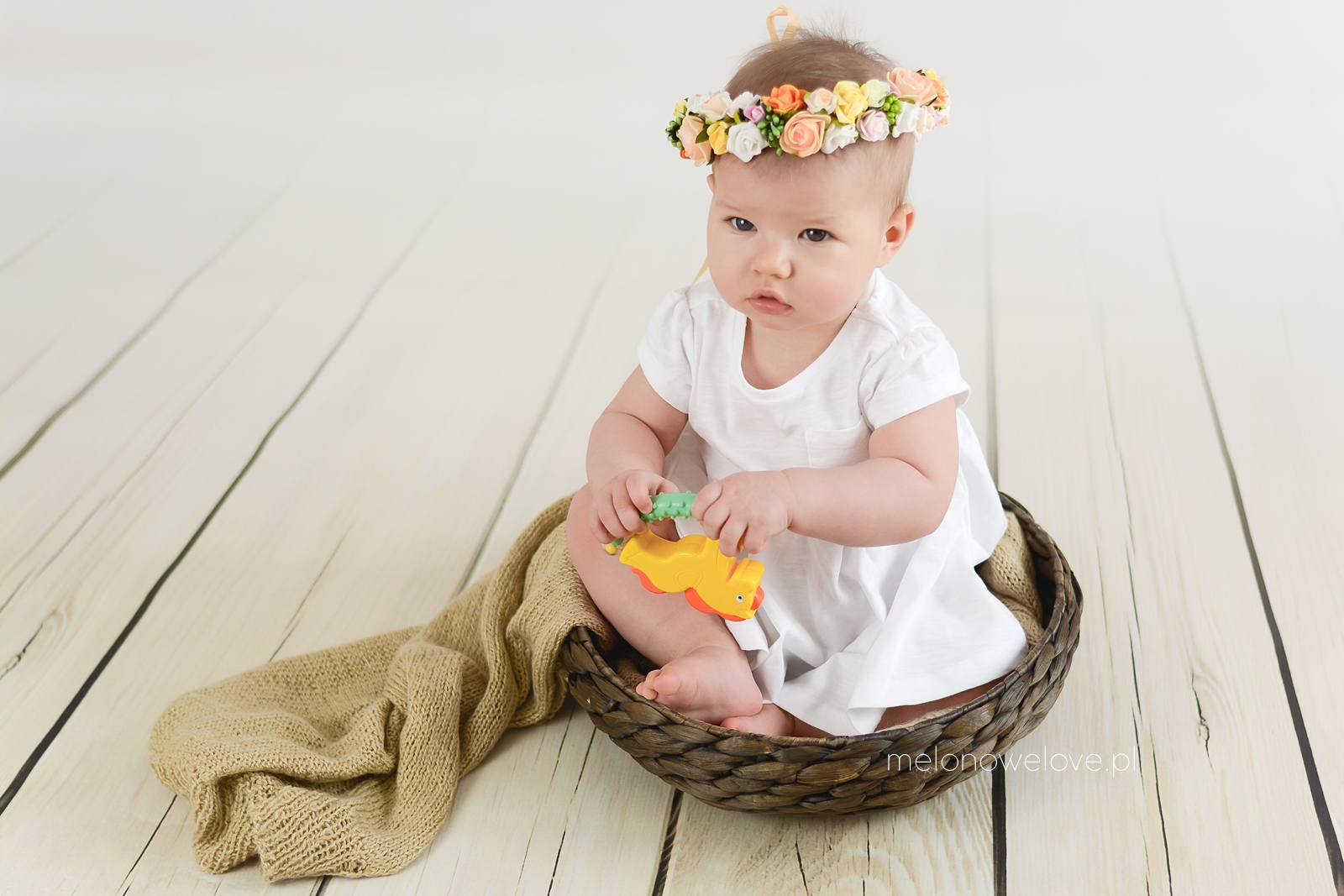 sesja niemowlęca 8 miesięcy
