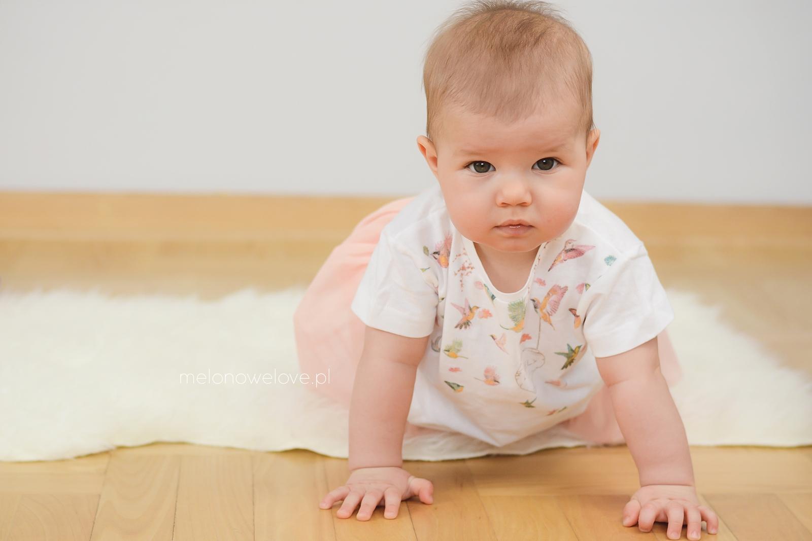 wiosenna sesja niemowlęca